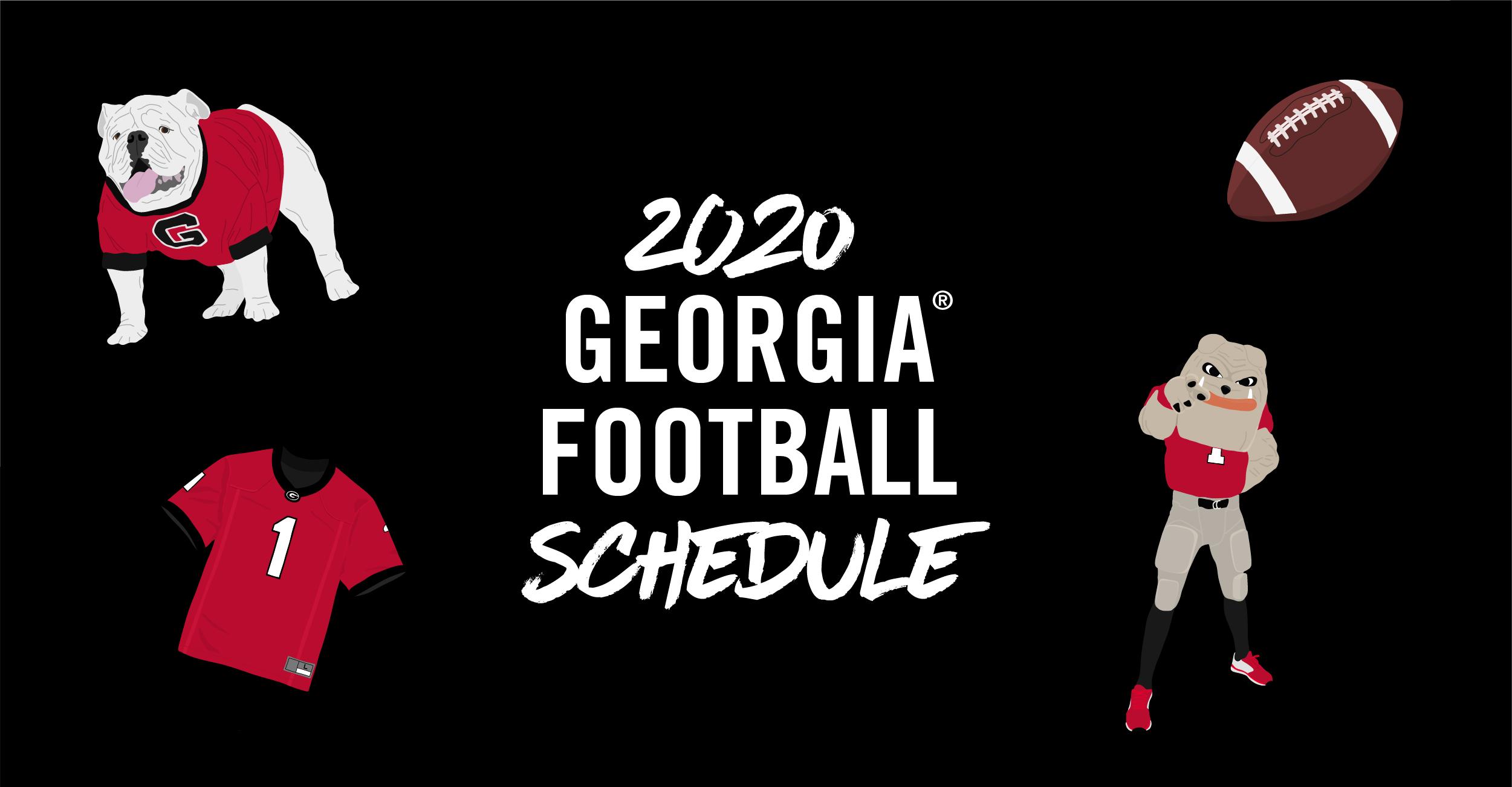 Previewing The New 2020 Uga Football Schedule Uga Alumni