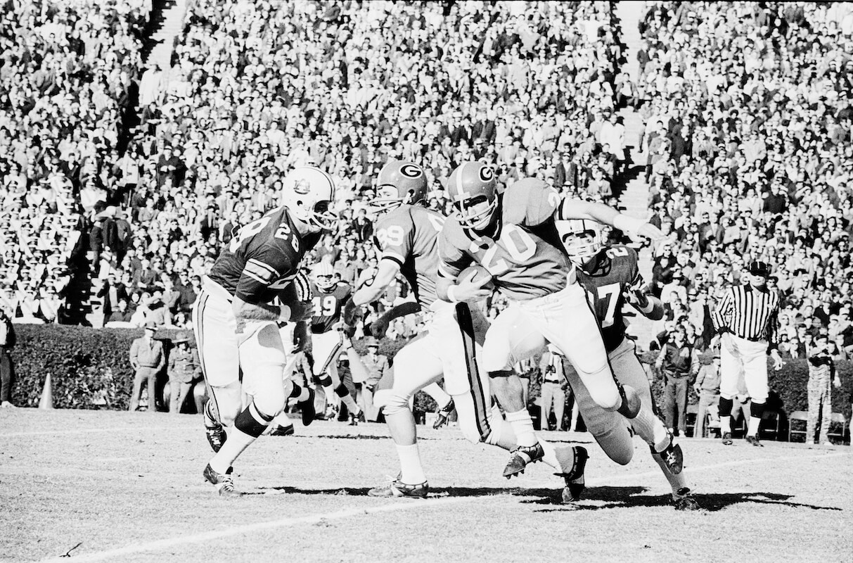 The 1969 Georgia-Auburn game in Sanford Stadium