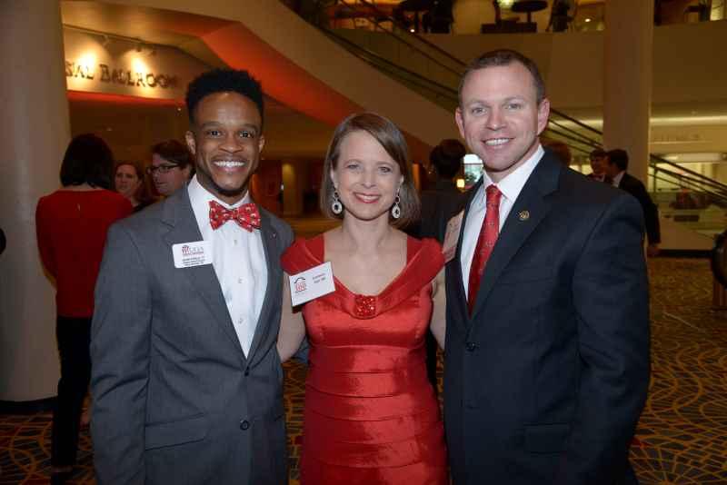 Kevin Steele, Carmen and Brian Dill at 2015 Bulldog 100 Celebration