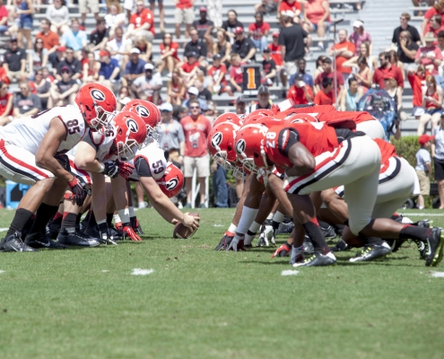 G-Day Spring Football Game Action;