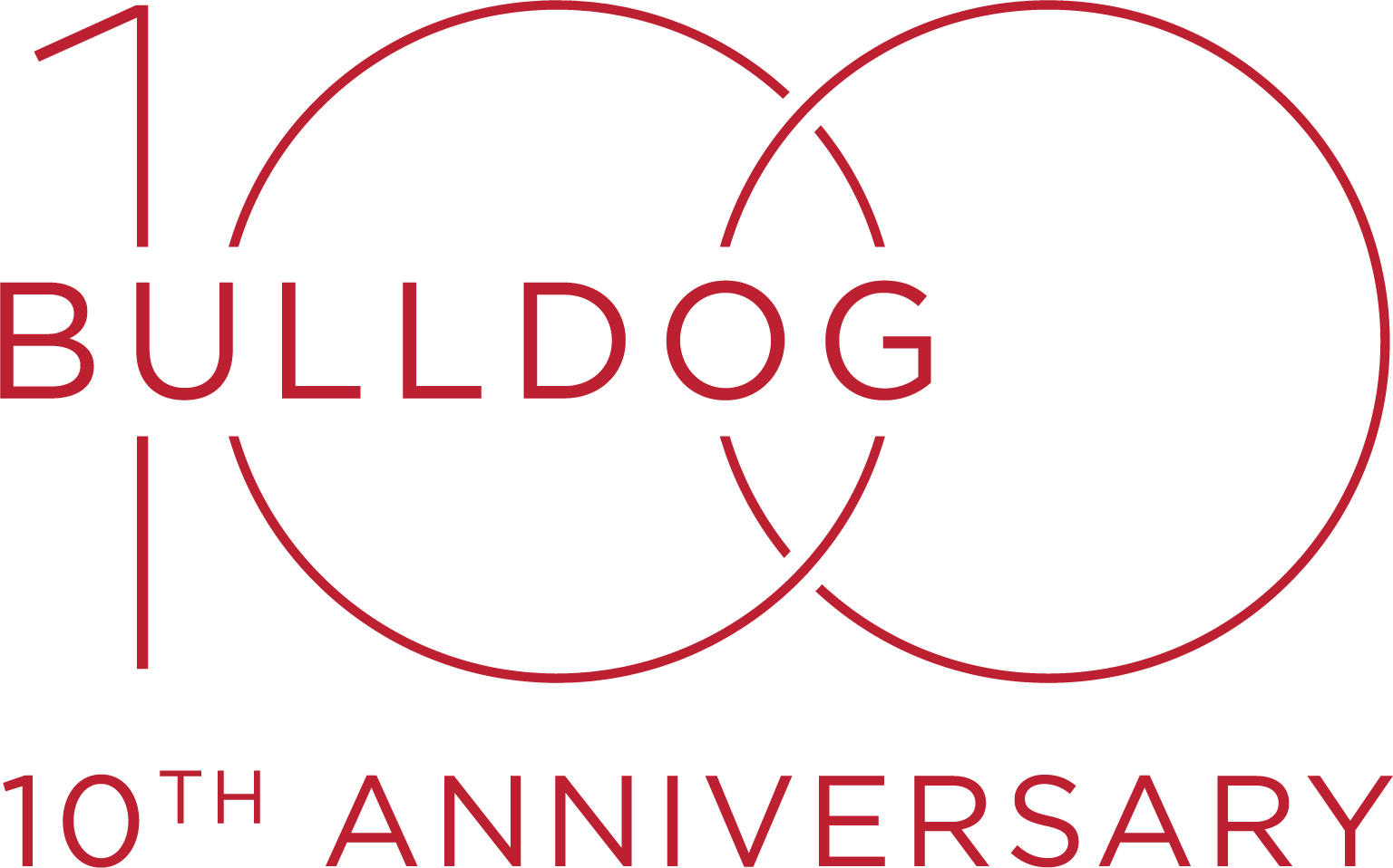 Bulldog 100 10th Anniversary logo