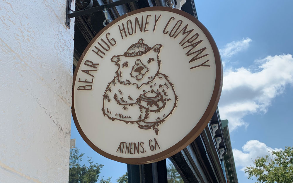 Bear Hug Honey sign