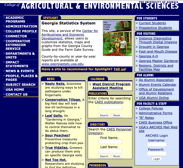 College of Agricultural and Environmental Sciences - April 2001