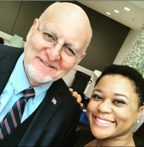 Quanza and CDC director Robert Redfield.