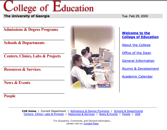 College of Education - Feb. 2000