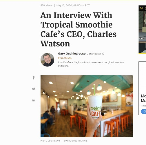 Forbes Article about Tropical Smoothie Cafe