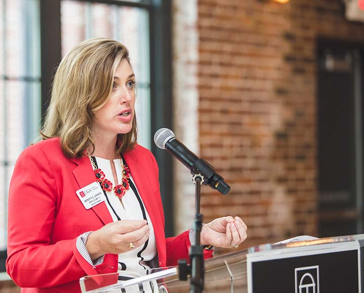 Executive Director Meredith Gurley Johnson presents at UGA in Low Country event.