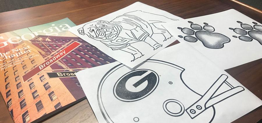 bulldog #coloring #georgia #pages 2020 | Georgia bulldogs, Bulldog ... | 423x900