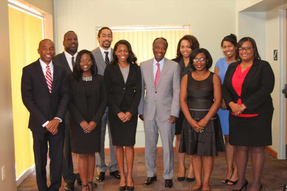 Chester C. Davenport and UGA Law students
