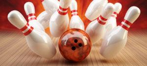 Bowling Strike rot/orange
