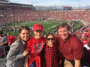 April Crow and family at football game