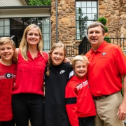 Mary Beth and Kirby Smart with their children (left to right) Weston, Julia and Andrew in May 2020