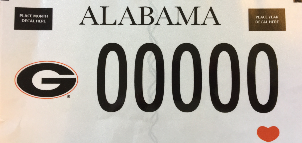 What do the Alabama vehicle license registration tag numbers mean?