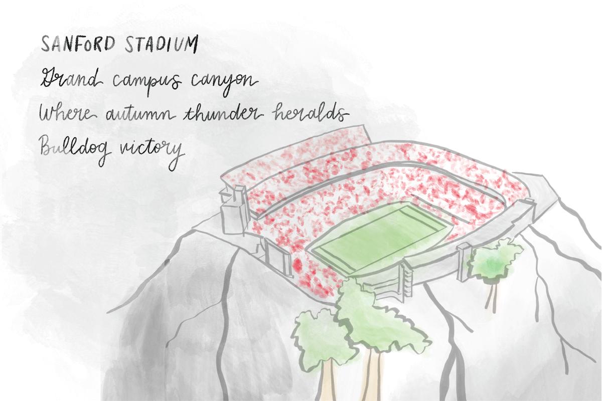 Sanford Stadium Haiku