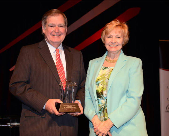 Doug and Kay Ivester at UGA's 2014 Alumni Awards Ceremony.
