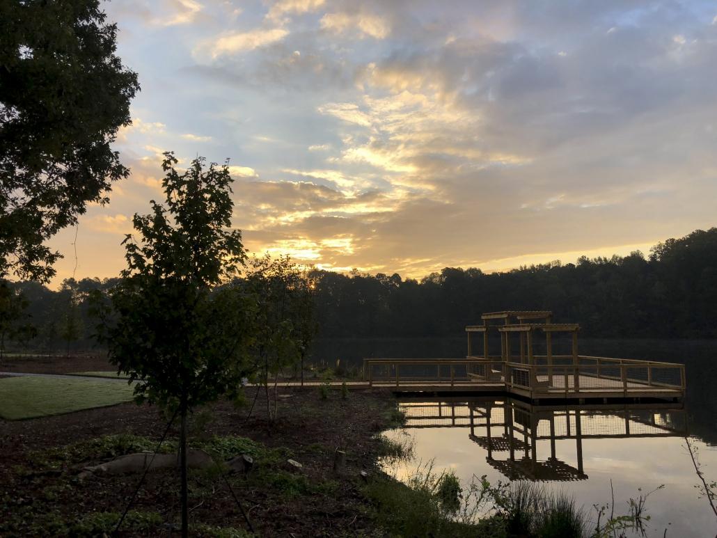 dock at Lake Herrick