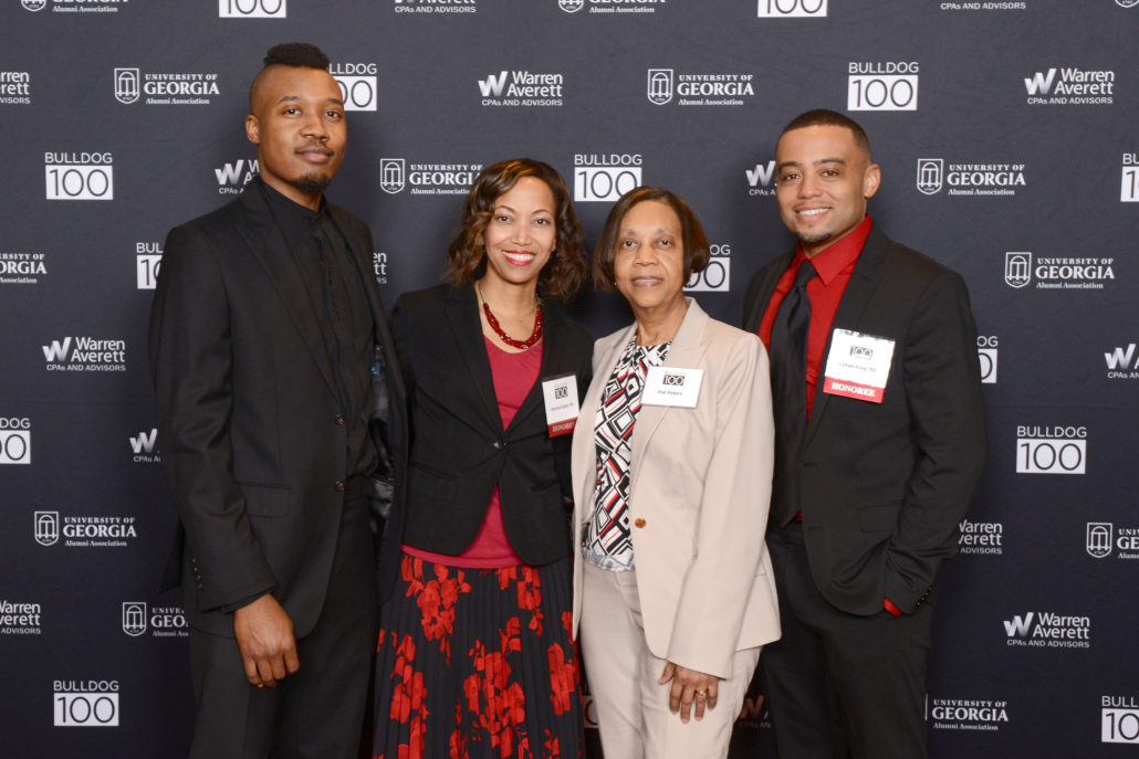Marvelous Ethan King Allen (AB U002799) And Monica Allen (BBA U002796), The Owners Of Zeusu0027  Closet, With Their Family At The 2018 Bulldog 100 Celebration