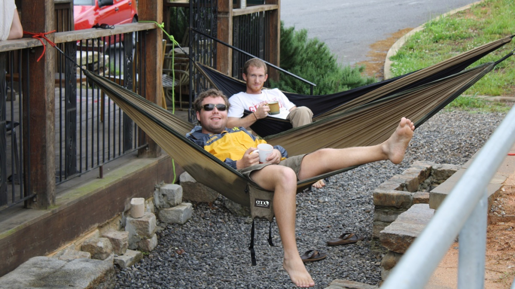 Parker Browne in Hammock at Jittery Joes