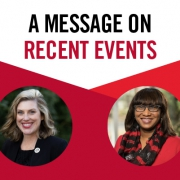 A message on recent events from Meredith Gurley Johnson and Ericka Davis