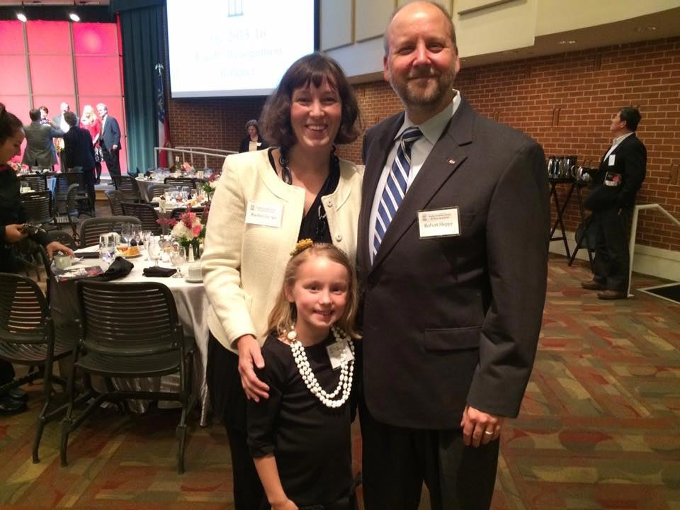 The Sleppy family at the 2016 Teach of the Year Banquet