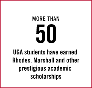 More than 50 UGA students have earned Rhodes, Marshall and other prestigious academic scholarships