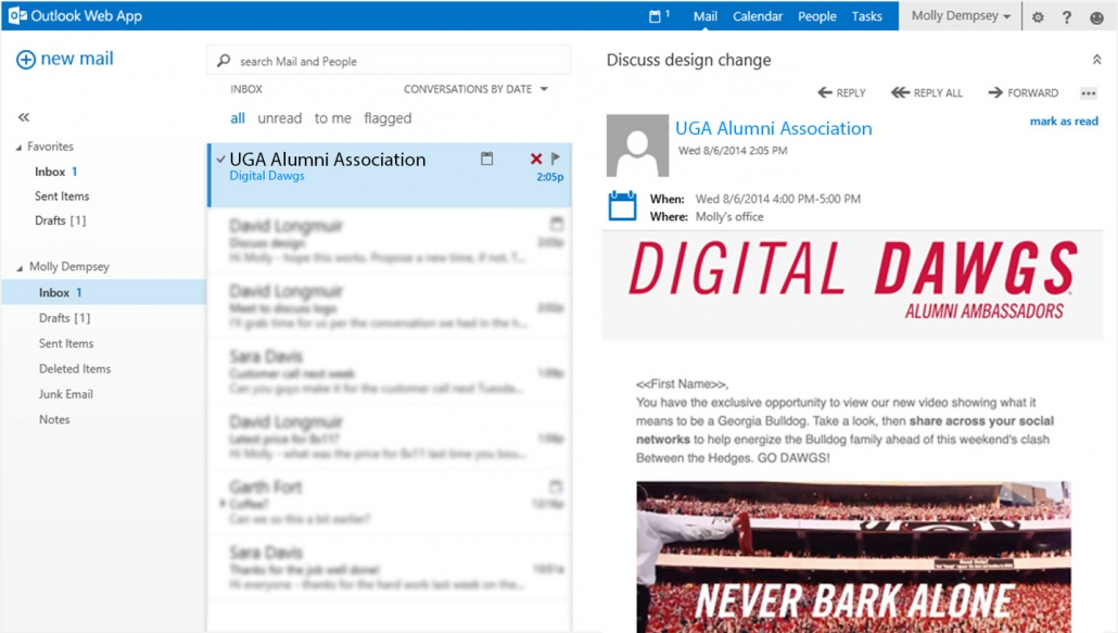 digital dawg email screenshot