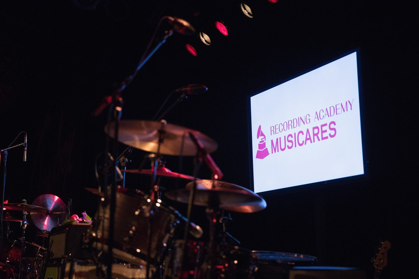 Recording Academy Musicares digital sign