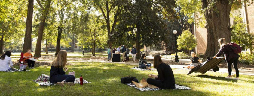 students picnic on North Campus