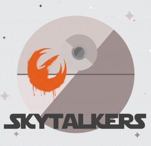 "Plesher and co-host Errity discuss Star Wars in their ""Skytalkers"" podcast."
