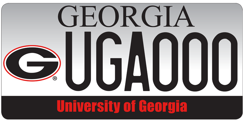 Get you UGA-branded license plate in Georgia