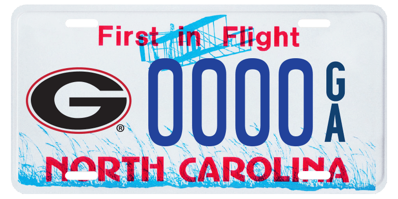 Get a UGA license plate in North Carlolina!