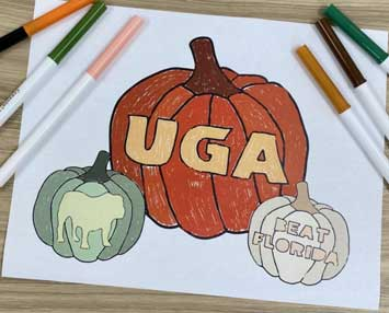Read about UGA Halloween coloring pages